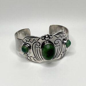 Pure 925 Mexico Silver Cuff Bracelet